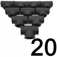 20DB T-IDOM 3/4 COL FEKETE ECO IDOM SZETTEK